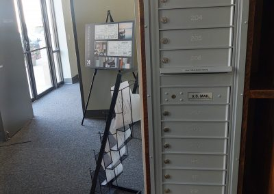The Gordon Building, Tenant mailboxes located in 1st Floor Lobby, Noblesville Indiana
